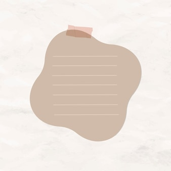 Digital note vector brown lined paper element