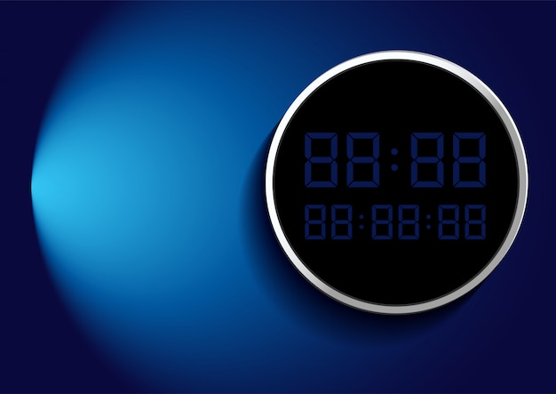 Digital number on frame over blue