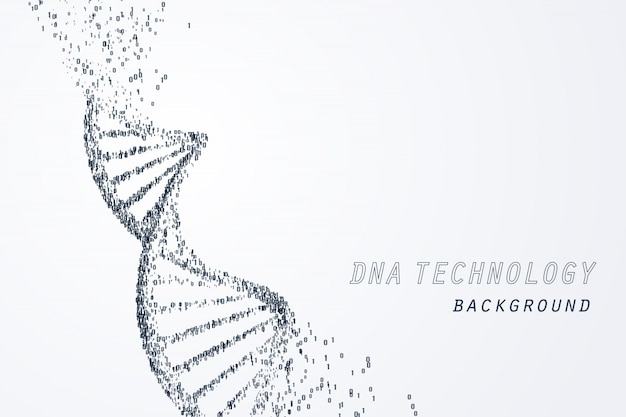 Цифровая днк виртуальная, технологическая и медицинская концепция