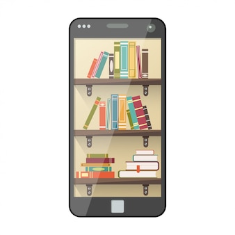 Digital online library on smartphone