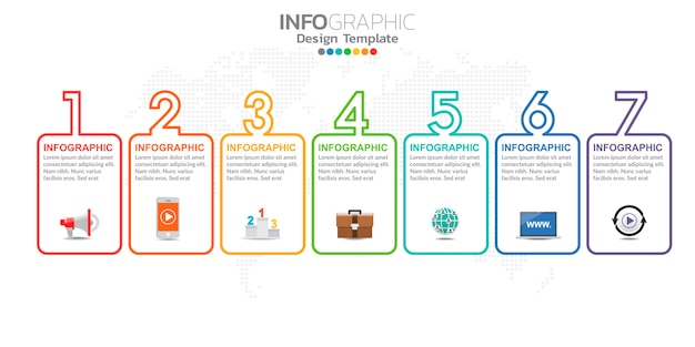 Digital online marketing infographic character for business contents.