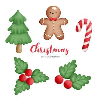 Цифровая живопись акварель рождественское печенье, пряники.