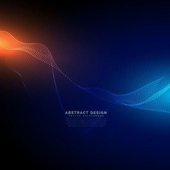 デジタル技術の背景にデジタル粒子が流れる