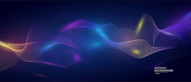 デジタル粒子波背景