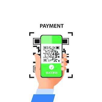 Цифровой платеж с использованием кода qr