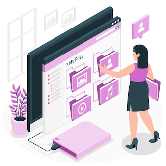Digital personal files concept illustration