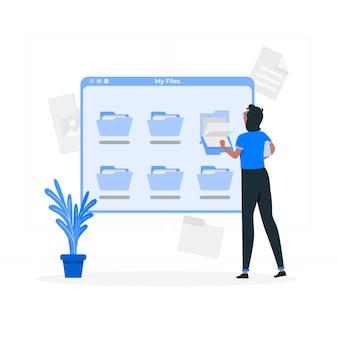 デジタル個人ファイルの概念図