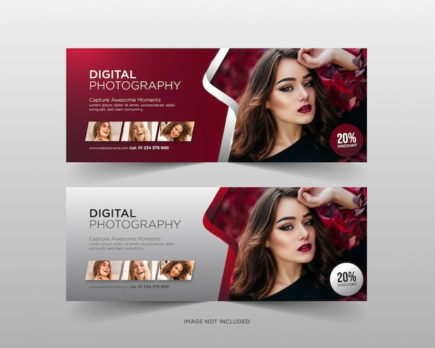 Digital photography banner template