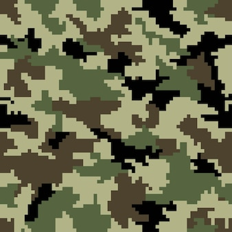 Digital pixel camouflage. seamless background. vector eps 10 .