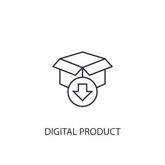 디지털 제품 개념 라인 아이콘입니다. 간단한 요소 그림입니다. 디지털 제품 개념 개요 기호 디자인입니다. 웹 및 모바일 ui/ux에 사용할 수 있습니다.
