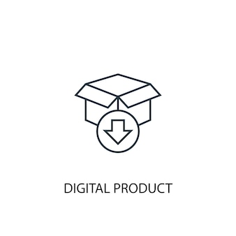 Digital product concept line icon. simple element illustration. digital product concept outline symbol design. can be used for web and mobile ui/ux