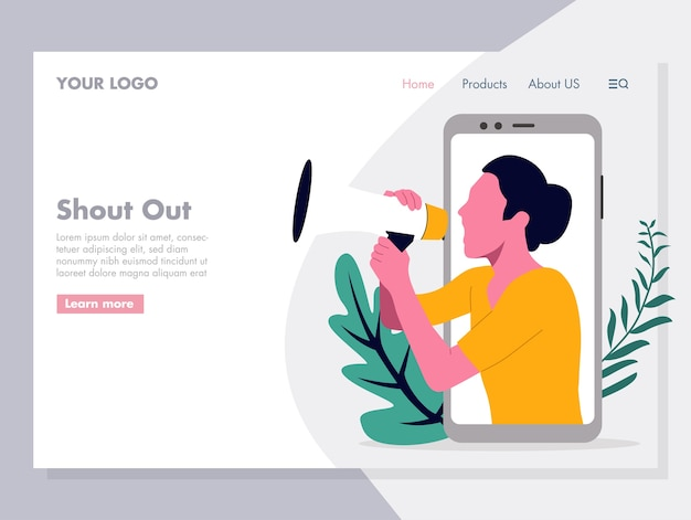 Digital promotion vector illustration for landing page