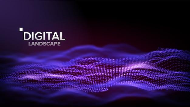 Digital purple landscape