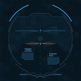 デジタルレーダー画面詳細なパネルを備えた未来的なユーザーインターフェース