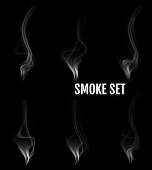 Цифровая реалистичная векторная иллюстрация дыма