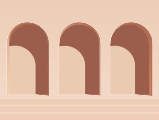 Digital rendered background for your product showcase elegant vector 3d illustration