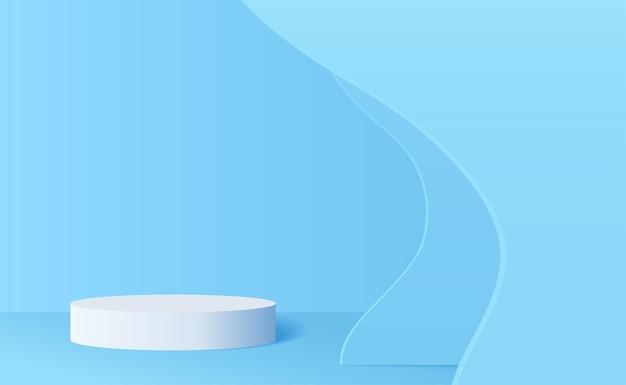 Digital rendered podium for your product showcase elegant vector 3d illustration