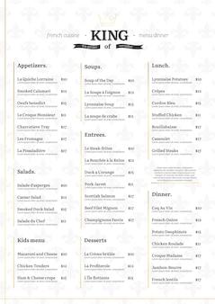 デジタルレストランメニューのコンセプト