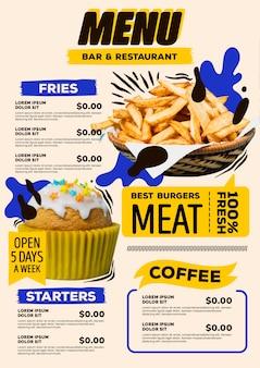 Digital restaurant menu design
