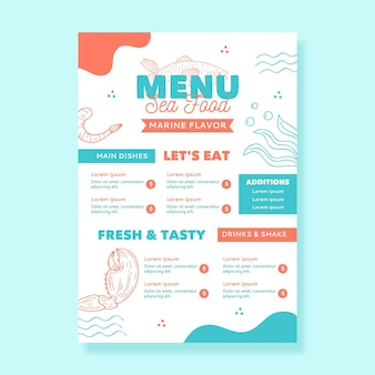 Digital restaurant menu template