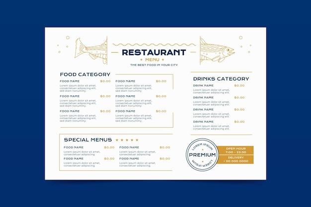 Tema del menu del ristorante digitale