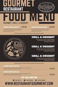 Digital restaurant menu vertical format