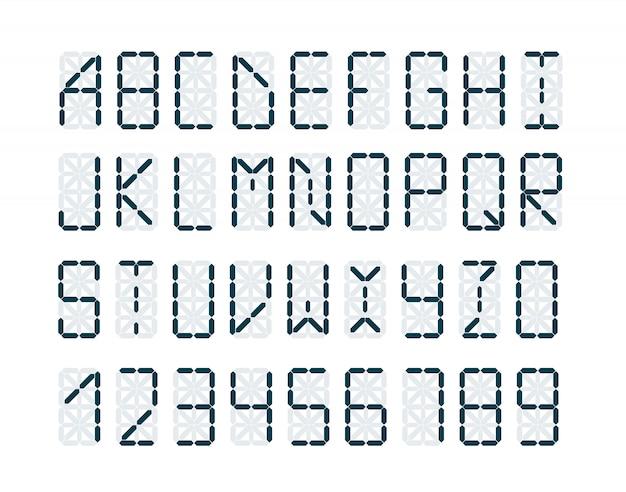 Digital retro clock font