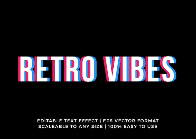 Digital retro promotion banner text effect