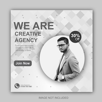 Digital sale social media post template