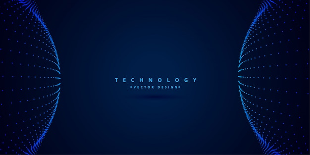 Digital science and technology style background