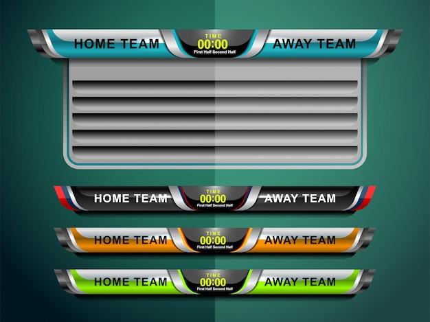 Digital scoreboard and lower thirds