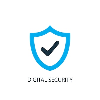 Digital security icon. logo element illustration. digital security symbol design from 2 colored collection. simple digital security concept. can be used in web and mobile.