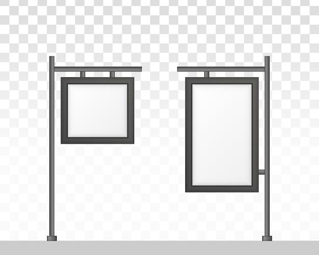 디지털 간판 흰색 배경에 고립입니다. 광고에. 직사각형 간판 라이트 박스 간판.