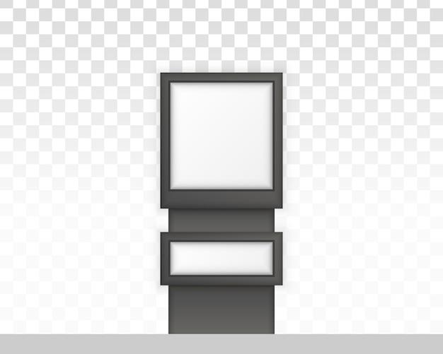 Digital signage isolated on white background.  to advertising. rectangular signage light box signboard.