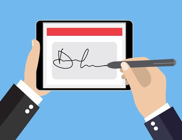 태블릿의 디지털 서명