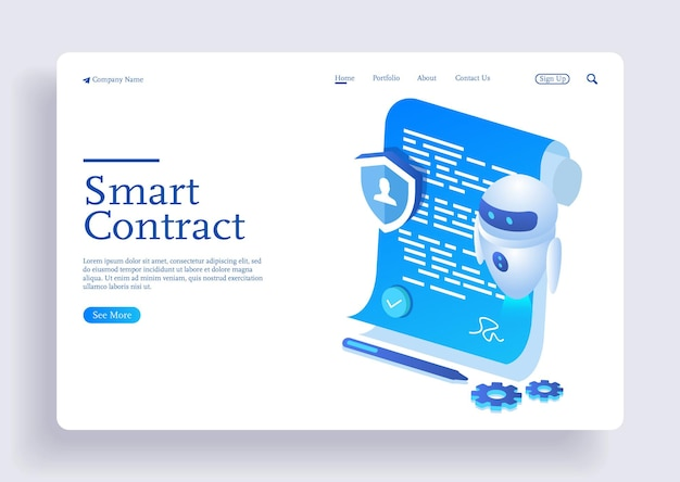 Digital smart contract for electronic sign document agreement with ai robot