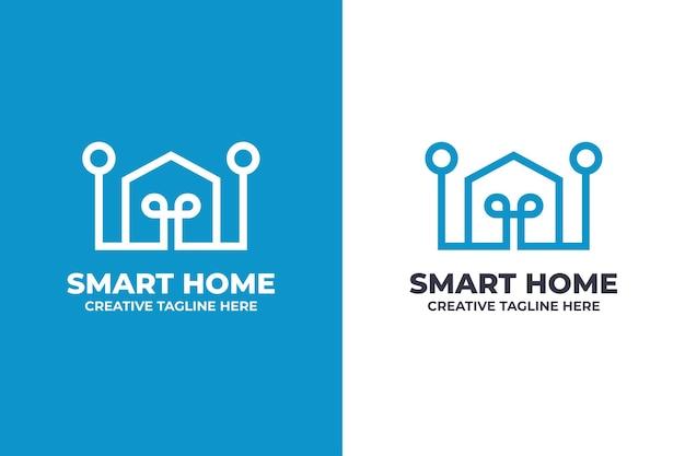Digital smart home technology logo