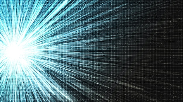 Технология digital speed light на фоне будущего, концепции цифрового и подключения.