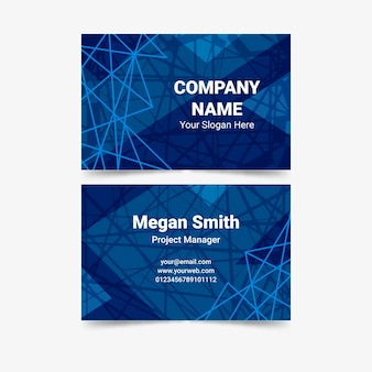 Digital spider web classic blue business card