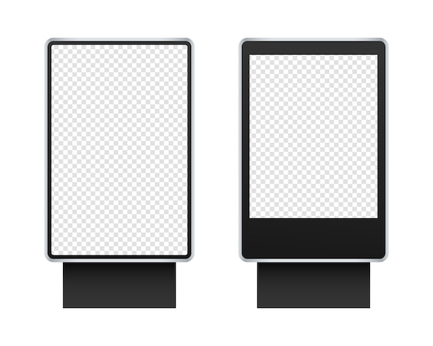 Digital stand signage light box. outdoor signage   set.   isolated. template design. realistic   illustration.