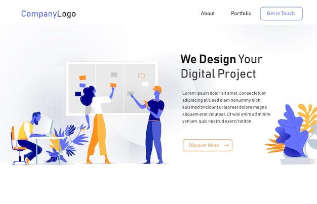 Digital startup landing page