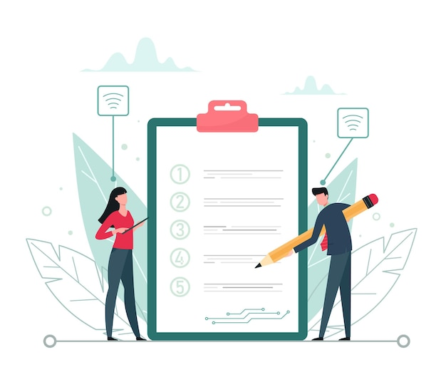 목표 및 작업 신경망 팀워크 벡터 비즈니스 개념에 대한 디지털 분류 계획