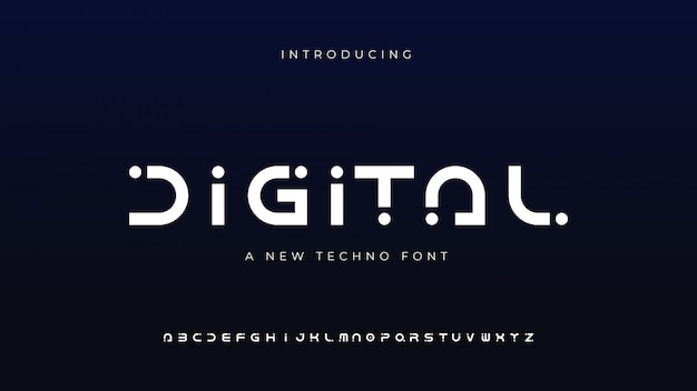 デジタルテクノフォント