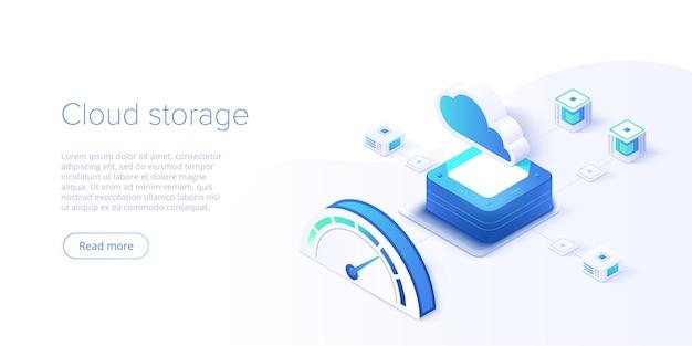 Изометрическая целевая страница цифровых технологий