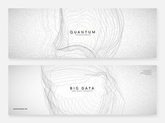 Digital technology abstract background. artificial intelligence, deep learning and big data concept. tech visual for information template. wavy digital technology abstract.