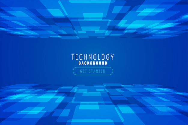 Digital technology abstract background in perspective style
