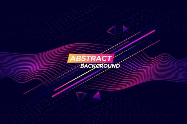 Digital technology abstract background with glowing lines