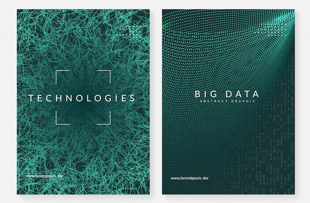 Digital technology abstract cover. artificial intelligence, deep learning and big data concept.