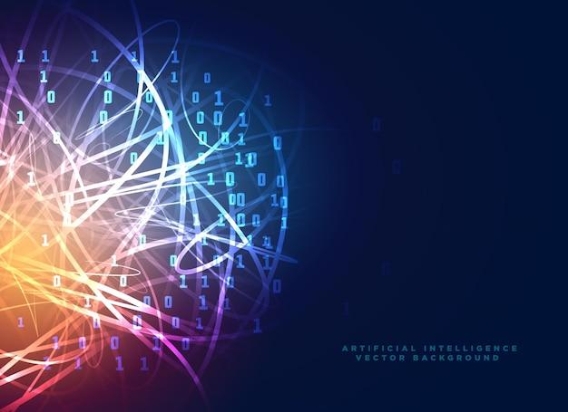 Фон цифровой технологии с абстрактными линиями