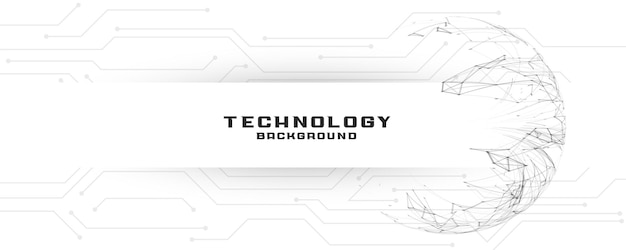 Digital technology banner with circuit lines